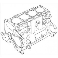 Блок цилиндров Yanmar 4TNV84